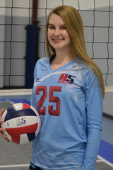 A5 South Volleyball Club 2018:  #25 Allie Edwards