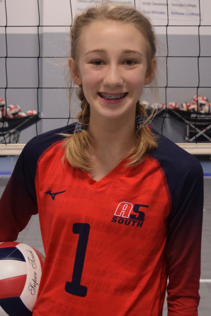 A5 South Volleyball Club 2020:  Olivia Boone